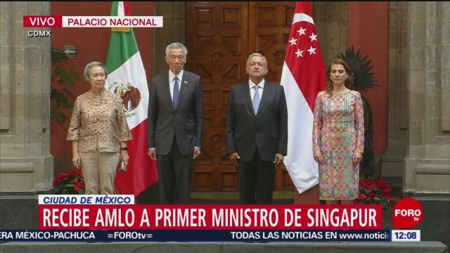 Foto: AMLO recibe primer ministro Singapur Palacio Nacional