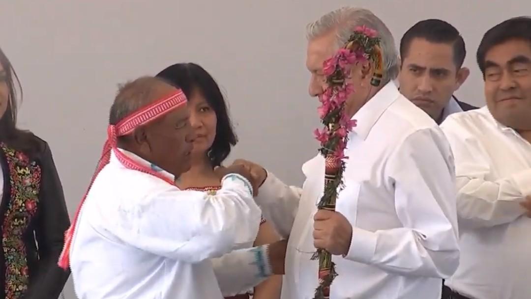Foto: AMLO preside diálogo con el pueblo náhuatl en Puebla