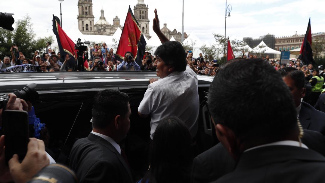 FOTOAMLO: Sedena cuida a Evo Morales, el Estado Mayor Presidencial ya no existe; en la imagen, el expresidente de Bolivia (EFE)