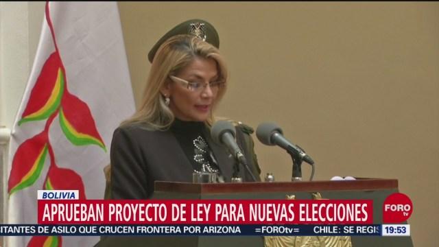 FOTO: Aprueban proyecto ley para nuevas elecciones Bolivia
