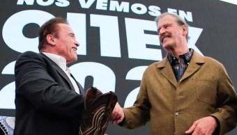 Arnold Schwarzenegger y Vicente Fox.