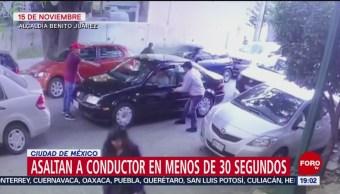 Foto: Video Asalto Conductor 30 Segundos Cdmx 20 Noviembre 2019