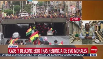 Asamblea de Bolivia recibe carta de renuncia de Evo Morales