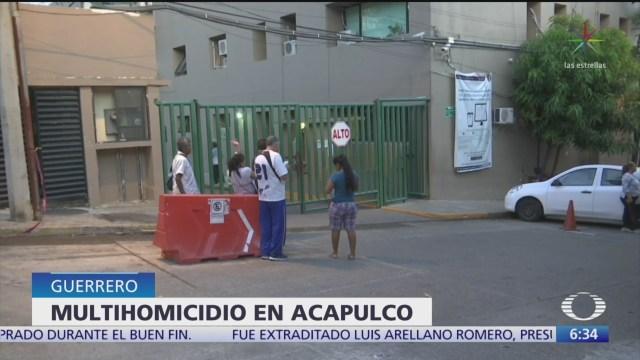 FOTO: Asesinan a cinco miembros de una familia en Acapulco, 18 noviembre 2019