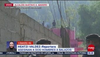 FOTO: Asesinan a dos hombres a balazos en alcaldía GAM de la CDMX, 17 noviembre 2019