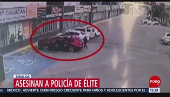 FOTO: Asesinan policía Culiacán Sinaloa