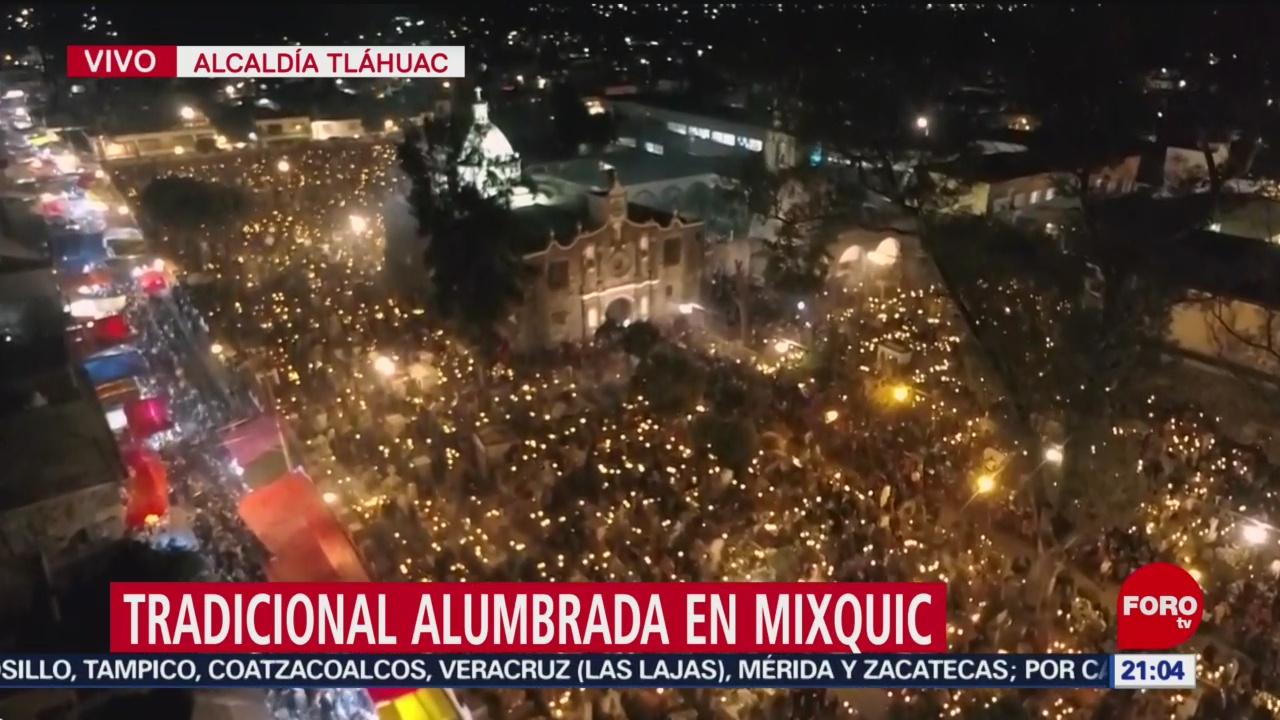 Así se vive la tradicional Alumbrada en Mixquic