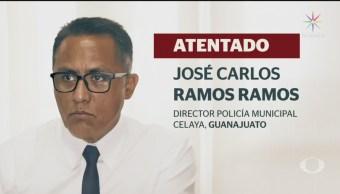 FOTO: Atacan a director de la Policía de Celaya; salió ileso, 14 noviembre 2019