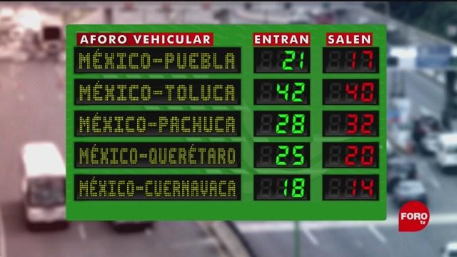 FOTO: Aumenta afluencia vehicular en autopista México-Cuernavaca, 15 noviembre 2019