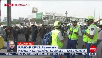 Autoridades capitalinas establecen diálogo con policías federales en AICM