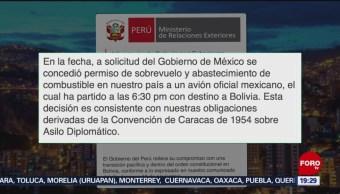 FOTO: Avión de la Fuerza Aérea mexicana va por Evo Morales, 11 noviembre 2019