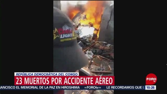 FOTO: Avión se estrella contra vivienda en República Democrática del Congo, 24 noviembre 2019