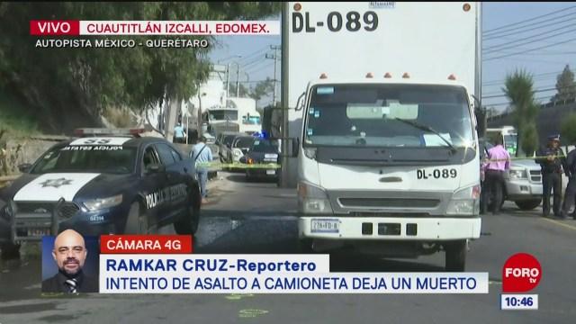 Balacera en la autopista México-Querétaro deja un custodio muerto