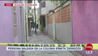 Balean a hombre en calles de la colonia Ermita Zaragoza, en CDMX