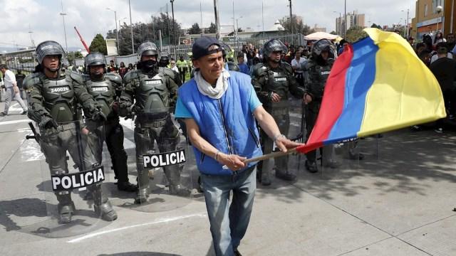 Foto: Colombianos protestan durante el Paro Nacional contra las políticas del presidente Iván Duque, 21 noviembre 2019