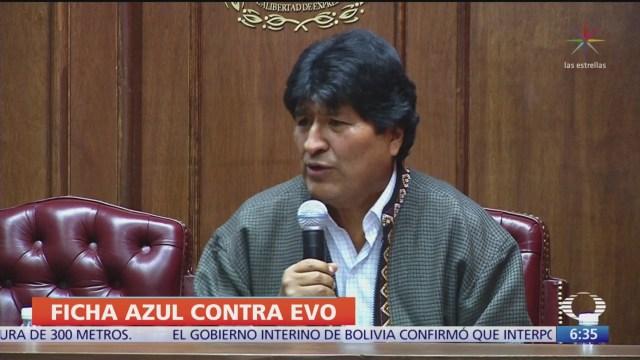 Bolivia confirma que Interpol activó ficha azul contra Evo Morales