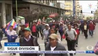 Bolivia se encuentra fragmentada tras renuncia de Evo Morales