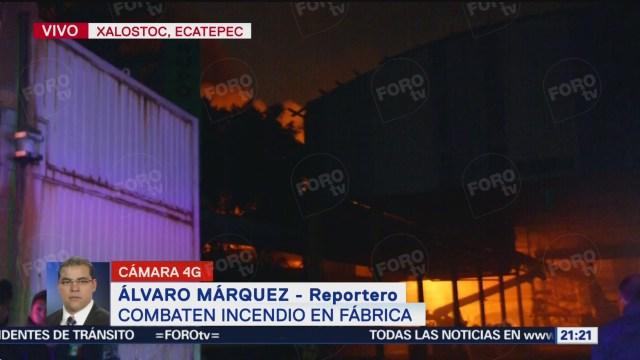 FOTO: Bomberos combaten incendio de fábrica en Ecatepec, 14 noviembre 2019