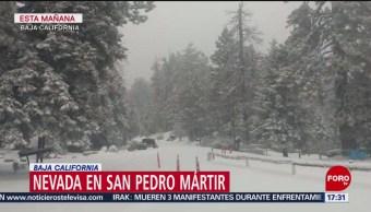 FOTO: Cae nevada Sierra San Pedro Mártir Baja California