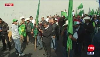 Campesinos aseguran que marcharán hacia el Zócalo capitalino