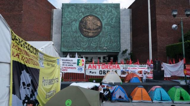 FOTO Campesinos mantienen plantón en Cámara de Diputados, les proponen Financiera Nacional Agropecuaria (Cuartoscuro/Graciela López)