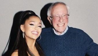 Foto: Ariana Grande apoya a Bernie Sanders, precandidato demócrata a la Casa Blanca, 15 de noviembre de 2019 (Instagram)