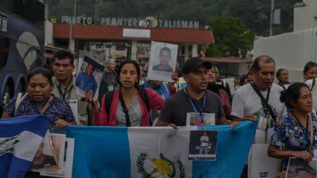 Caravana de madres de migrantes desaparecidos.