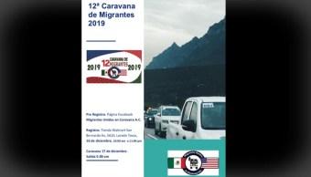FOTO Caravana del Migrante saldrá el 17 de diciembre de Texas a Querétaro (Facebook)