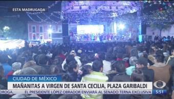 Celebran a la virgen de Santa Cecilia en Garibaldi