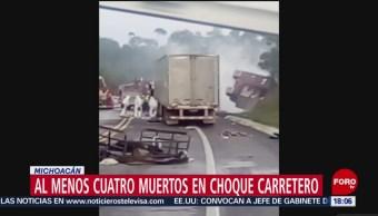 FOTO: Choque Autopista Siglo XXI Deja 4 Muertos