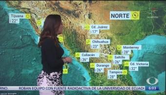 Prevén bajas temperaturas y heladas en México