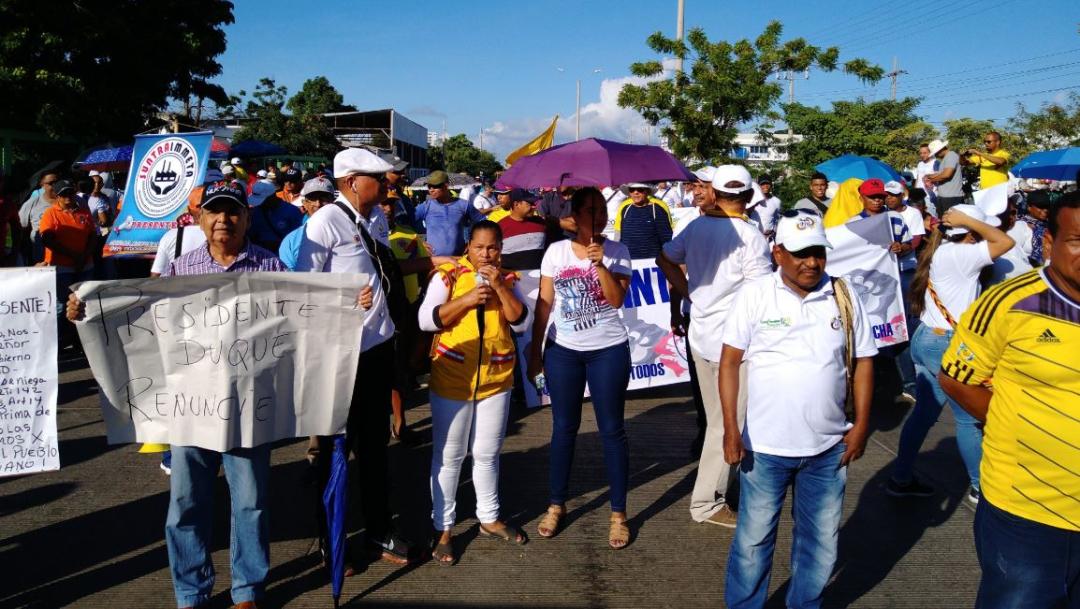 Foto: Colombia vive jornada de 'paro nacional' convocada por sindicatos, 21 noviembre 2019