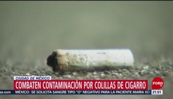 Foto: Colillas Cigarro Contaminación Cdmx 1 Noviembre 2019