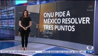 Comité de DH de ONU hace llamado a México