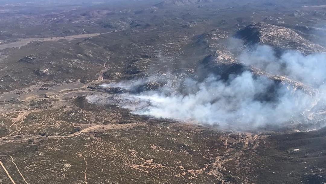 FOTO Conafor extingue incendios en cinco predios de Baja California