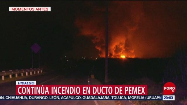 Foto: Incendio Ducto Combustible Tetepango Continúa Activo 20 Noviembre 2019