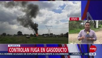 FOTO: Controlan fuga gasoducto Tlaxcala,
