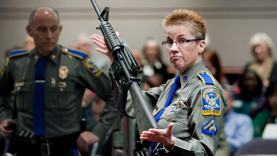 Foto: Según la demanda, la empresa con sede en Madison, Carolina del Norte, no debería ofrecer al público un arma tan peligrosa como el fusil Bushmaster AR-15, 12 de noviembre de 2019 (AP)