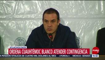 FOTO: Cuauhtémoc Blanco declara sesión permanente Mesa Coordinación caso Atlacholoaya