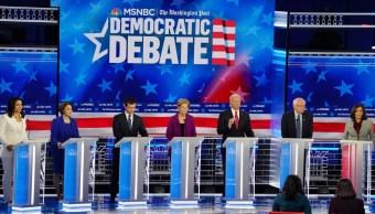 Todos contra Trump, en el quinto debate demócrata rumbo a las presidenciales 2020 en EE.UU.