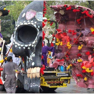 Miles de calaveras y catrinas tomaron la CDMX en el Mega Desfile de Día de Muertos