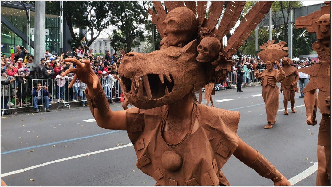 Foto: Esculturas de barro representan los nueve planos del Mictlán, 2 de nociembre de 2019 (Secretaría de Cultura)