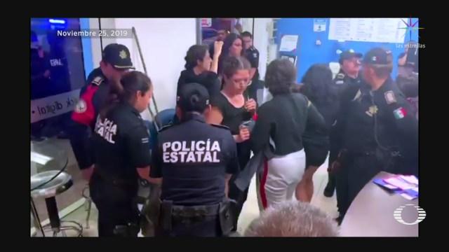 Foto: Detenidas Marcha Feminista Mérida Abuso Policial 26 Noviembre 2019