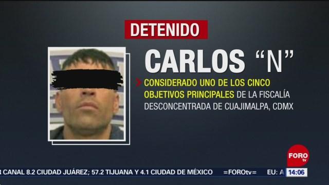 FOTO: Detienen a Carlos Ochos, uno de los cinco objetivos principales, 10 noviembre 2019