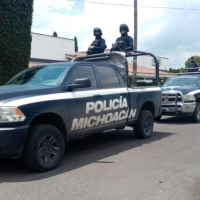 Detienen a tres sujetos con armas y droga en Uruapan, Michoacán