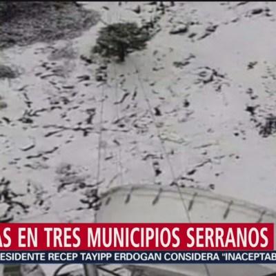 Durango se pinta de blanco por nevada