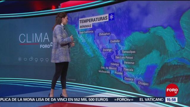 FOTO:El clima con Daniela Álvarez del 19 de noviembre de 2019, 19 noviembre 2019