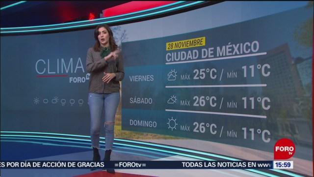 FOTO: El clima de la tarde del 28 de noviembre del 2019, con Daniela Álvarez, 28 noviembre 2019