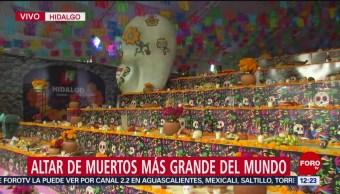 FOTO: Elaboran en Hidalgo el altar de muerto más grande del mundo, 2 noviembre 2019