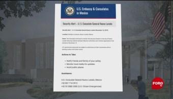 FOTO: Emiten alerta de viaje para Nuevo Laredo, Tamaulipas, 16 noviembre 2019
